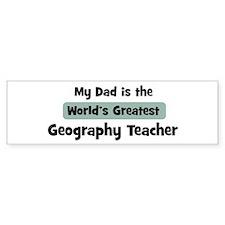 Worlds Greatest Geography Tea Bumper Bumper Sticker