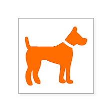dog orange 1C Sticker