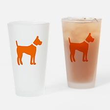 dog orange 1C Drinking Glass