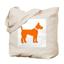 dog orange 1C Tote Bag
