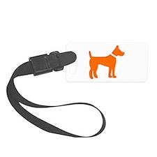 dog orange 1C Luggage Tag