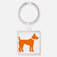 dog orange 1C Keychains