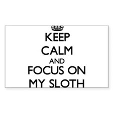 Keep Calm and focus on My Sloth Decal