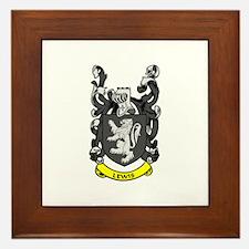 LEWIS Coat of Arms Framed Tile