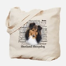 Casey Sheltie Traits Tote Bag