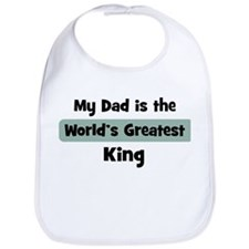 Worlds Greatest King Bib