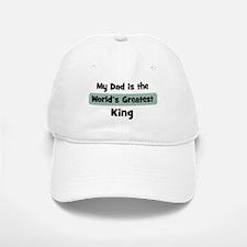 Worlds Greatest King Baseball Baseball Cap