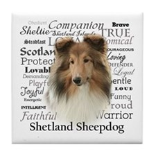Sheltie Traits Tile Coaster