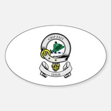 LESLIE 2 Coat of Arms Oval Decal