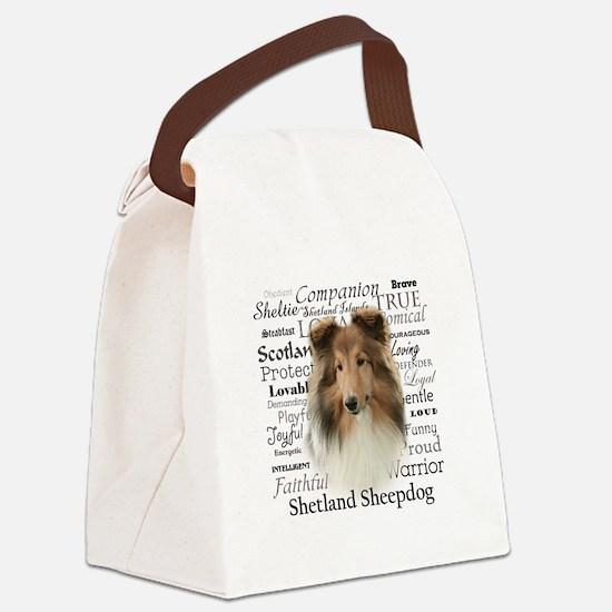 Sheltie Traits Canvas Lunch Bag
