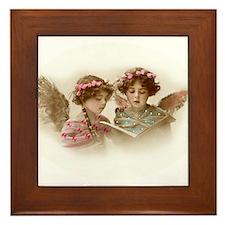 Victorian Children Framed Tile