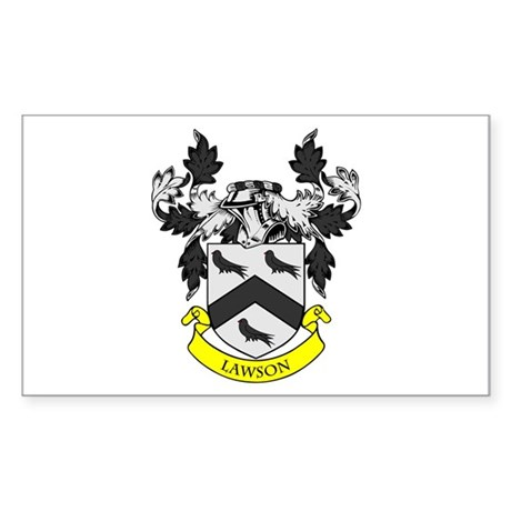 LAWSON Coat of Arms Rectangle Sticker