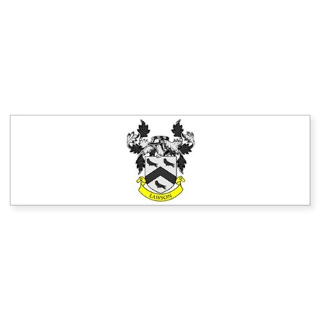 LAWSON Coat of Arms Bumper Sticker