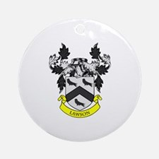 LAWSON Coat of Arms Ornament (Round)