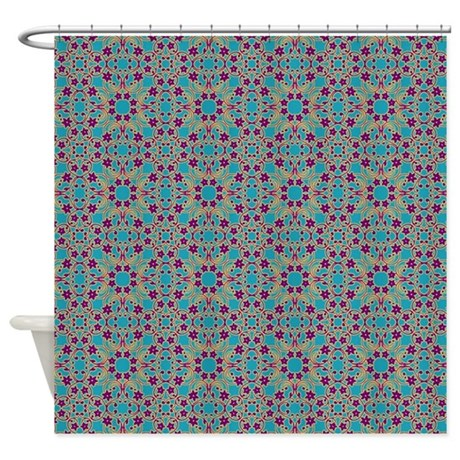 Moroccan Blue Pattern Shower Curtain By SarasMistyMountainsHop
