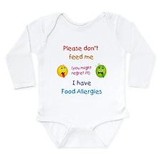 Unique Allergic Long Sleeve Infant Bodysuit