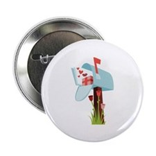"""Valentine Mailbox 2.25"""" Button (10 pack)"""