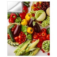 Arrangement of fruits and vegetables Wall Decal