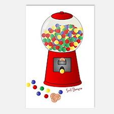 Bubble Gum Machine Postcards (Package of 8)
