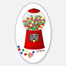 Bubble Gum Machine Oval Decal