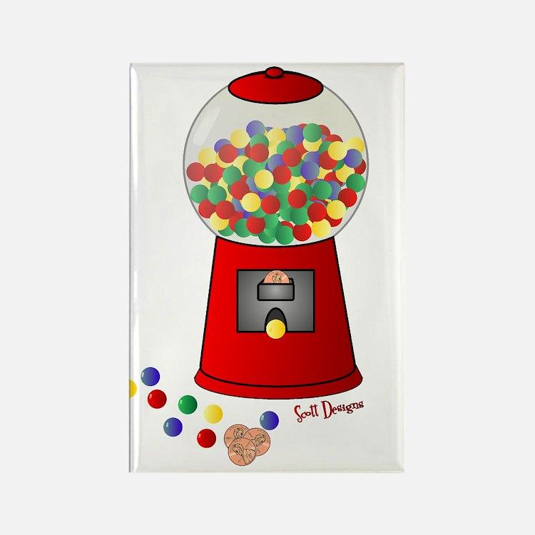 Bubble Gum Machine Rectangle Magnet