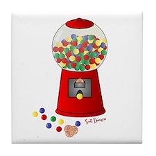 Bubble Gum Machine Tile Coaster