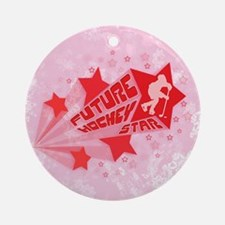 Future Hockey Star Red Christmas Ornament (round)