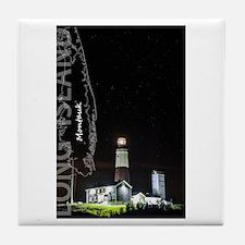 Long Island. Montauk Point Light. Tile Coaster