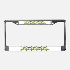 School of Sea Turtles v2sq License Plate Frame