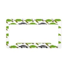 School of Sea Turtles v2sq License Plate Holder