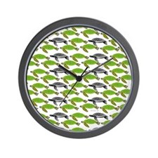 School of Sea Turtles v2sq Wall Clock