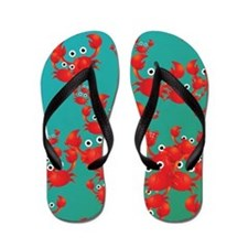 Crab world Flip Flops