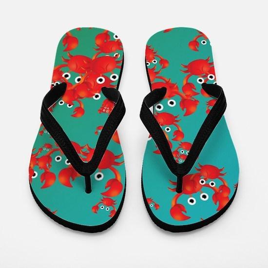 Crab world Flip Flops