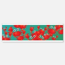 Crab world Bumper Bumper Bumper Sticker