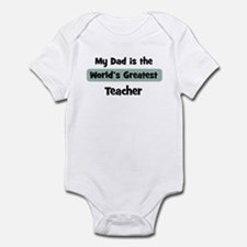 Worlds Greatest Teacher Infant Bodysuit