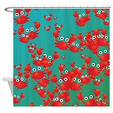 Crab world Shower Curtain