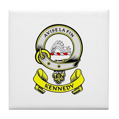 KENNEDY 1 Coat of Arms Tile Coaster