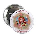 Sicillian Trinacria Button Pin