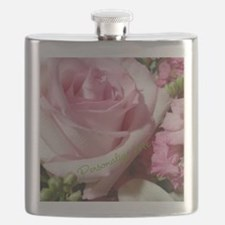 Personalized Rose Flask