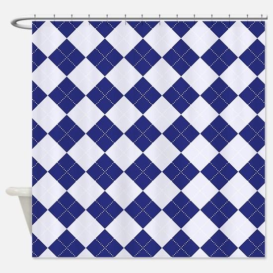 Argyle in Blue Shower Curtain
