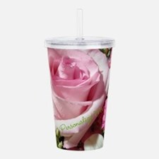 Personalized Rose Acrylic Double-wall Tumbler