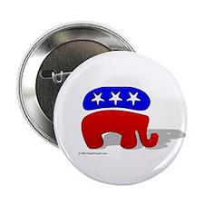 3D GOP Republican Elephant Button supporting Bush