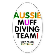 Aussie Muff Diving Team - Way To Go Decal