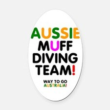 Aussie Muff Diving Team - Way To Oval Car Magnet