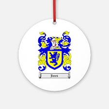 JONES Coat of Arms Ornament (Round)