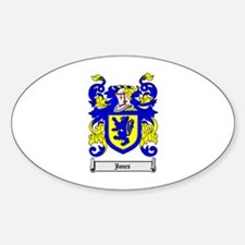 JONES Coat of Arms Oval Decal
