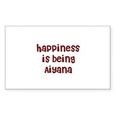 happiness is being Aiyana Rectangle Decal