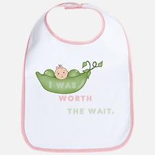 Worth The Wait Pink Or Green Bib