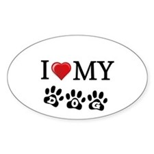 I LOVE MY DOG Gifts Decal