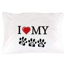 I LOVE MY DOG Gifts Pillow Case